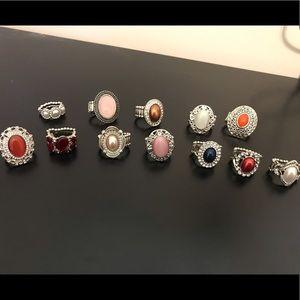 Paparazzi lot of 12 rings